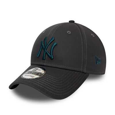 New Era New York Yankees Baseball Cap.9Forty Mlb Grey Cotton Essential Hat S20 5