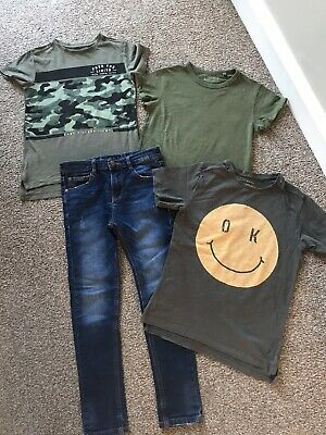 Boys NEXT bundle Size 6 Years Jeans And Green Tshirts