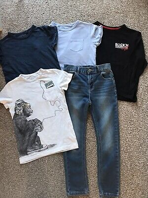 Boys NEXT bundle Size 6-7 Years Jeans And Blue Tshirts