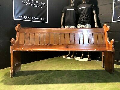 Can Deliver Vintage Reclaimed Church Pew Pitch Pine Bench