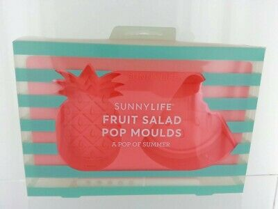 SUNNYLIFE Fruit Salad POP MOULDS Silicone Ice Lolly Pineapple & Watermelon NEW