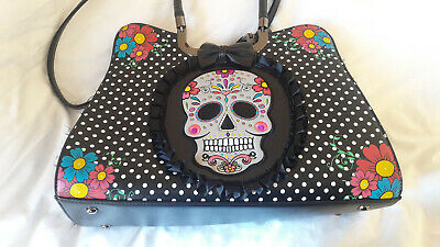 Banned Apparel gothic punk emo rockabilly polka dot Day of the Dead bag handbag