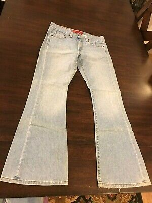 Boy's Junior's Size 7 Small 519 Levi Low Stretch Light Blue Jeans 25""