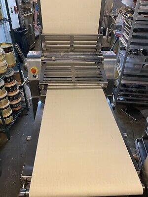 Omcan Dough Sheeter Lamination croissant puff pastry bakery Reversible