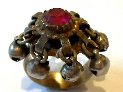 A Genuine,Beautiful, Post Medieval Silver  Ring With Glass/Stones Setting.,
