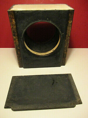 Antique Victorian French Black Slate Clock Upper Case and Top Spares Repair