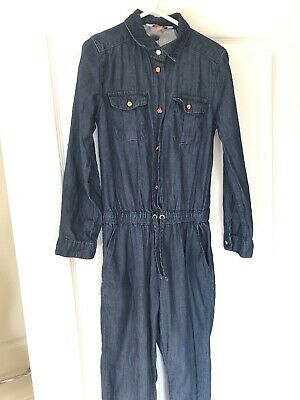 Ted Baker Girls Denim Jumpsuit Long Sleeves/trousers Size Age 8 Vgc