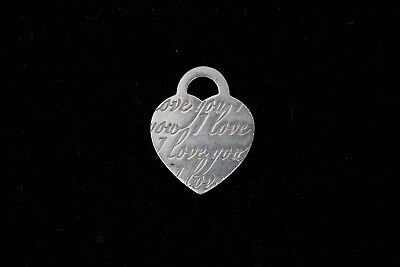 """Authentic Tiffany & Co """"I Love You"""" 925 Sterling Silver Pendant For Necklace"""