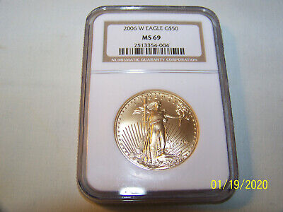 $50 Gold Eagle 2006 W Ngc Ms 69 Graded & Sealed