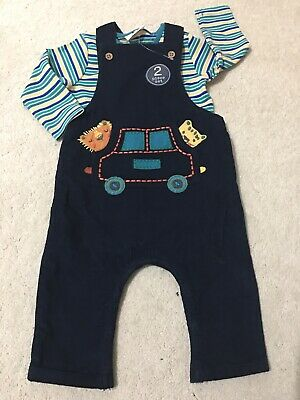 Next Baby Boy Two Piece Outfit Dungarees3-6 months, brand new