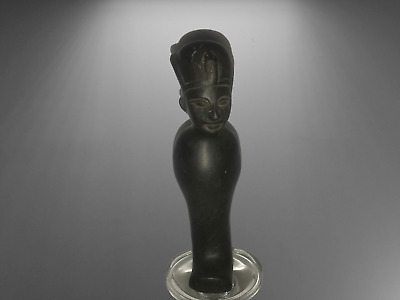 Rare ancient egyptian antique black stone Ushabti of king 1550-1069 bc