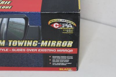 BNIB CIPA 11300 Towing Mirrors Slide-On Plastic Black Toyota Tundra Sequoia Pair