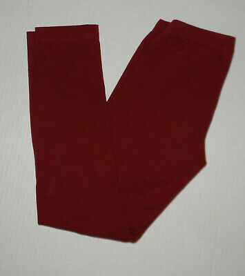 Hanna Andersson Solid Burnt Red Livable Leggings  Girls 140 Cotton Fall