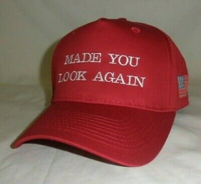 Made You Look Again Trump Hat With Flag  Maga Hat Build The Wall Hat Trump Hat