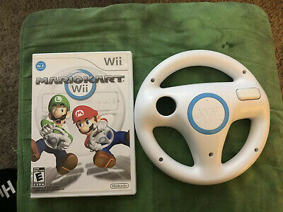 Mario Kart Wii Nintendo Wii 2008 Complete includes Official Steering Wheel