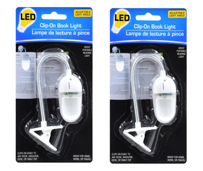 ⭐️2 Led Clip-On Book Lights With Flexible Light Angle Book Light