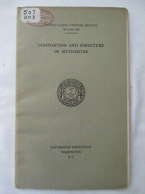 Composition and Structure of Meteorites 1930 George P Merrill GEOLOGY/ASTRONOMY