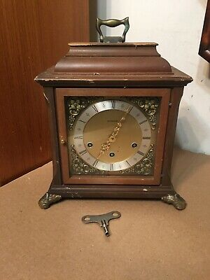 Vintage Junghans 8-Day Bracket Mantle Clock Westminster Chime Restoration Projek