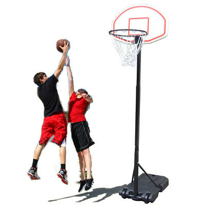 Adjustable Free Standing Basketball Hoop Net Backboard Portable Stand 2.45m