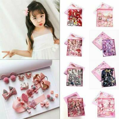 18Pcs/set Baby Girl Hair Clip Bow Flower Barrettes Party Kids Hairpins Headwear