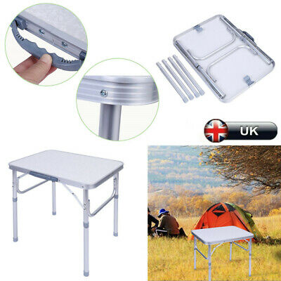 Adjustable Camping Catering Heavy Duty Folding Table Trestle Picnic Bbq Party Uk