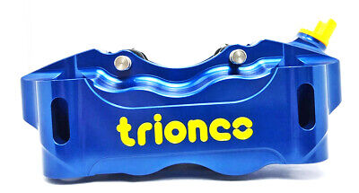 TRIONES HP 100mm radial front right brake caliper Blue
