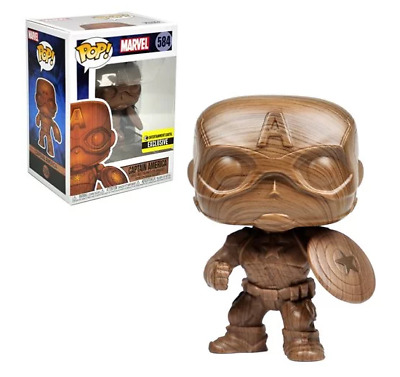 Captain America Wood Deco Pop! Vinyl Figure - Entertainment Earth Exclusive