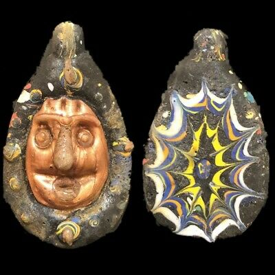 Rare Ancient Phoenician Pendant With Gold Decoration. Super Quality (2)
