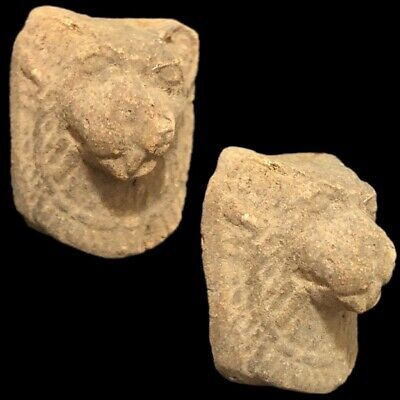 Beautiful Ancient Egyptian Lion Head Amulet 300 Bc (6)