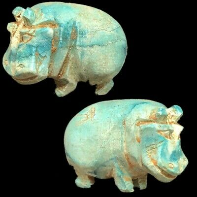 Beautiful Ancient Egyptian Hippo Amulet 300 Bc (9)