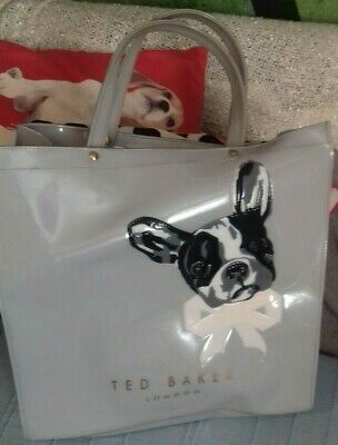 Ted Baker London Pale Grey Pug Face Large Tote Bag