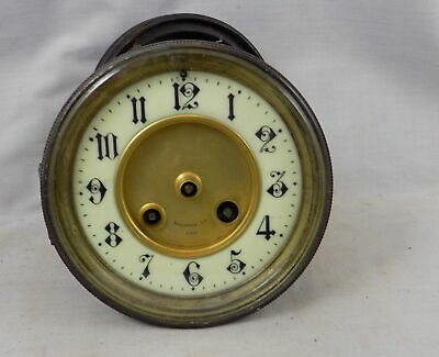 Japy Freres Antique French Striking Clock Movement, Dial, Bezel & Glass Etc.