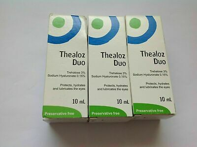 THEALOZ DUO protects, hydrates and lubricates the eyes 3 x 10ml