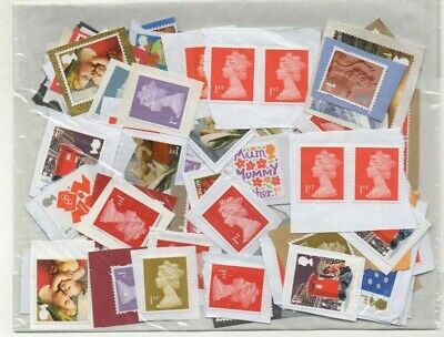 GB FIRST (1st) CLASS  x 100 UNFRANKED STAMPS. FACE VALUE = £70