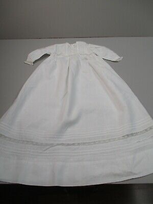 Antique Victorian Baby gown w lace insertions