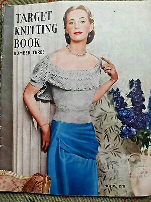 Vintage Target Knitting Patterns Book Possibly late 40s early 50s
