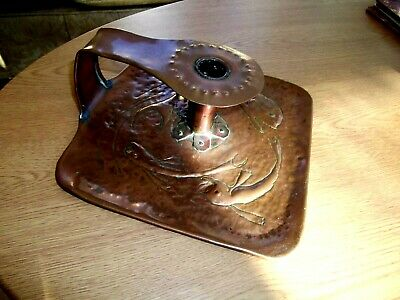 Arts & Crafts Copper Candlestick / Chamber Stick - Newlyn ?