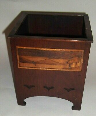 Marquetry Wooden Arts & Crafts Planter.