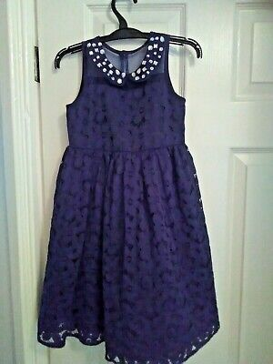 Girls Next Party Dress in navy Aged 4 Years Worn Twice (free postage)