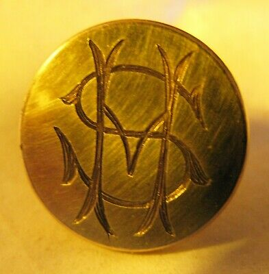 Large Antique Brass Gilt Sussex Hunt Button 19Mm