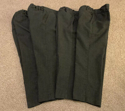4 Pairs Of Boys M&S Grey Skinny School Trousers Age 3-4 Years