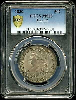 1830 50C Capped Bust Half Dollar Small 0 MS63 PCGS 37744101