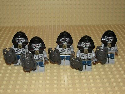 Adventurers Pharoh/'s Quest Lego mini figure MUMMY with black headdress 7306 7326