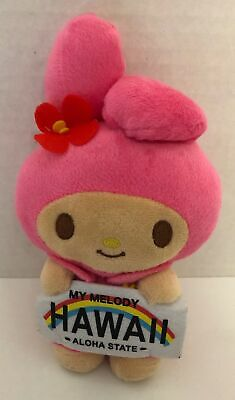 """Sanrio My Melody Limited HAWAII License Plate 7.5"""" Plush Doll 2018 Pink Stuffed"""