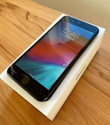 Apple iPhone 7 Plus Space Grey 256GB Unlocked Cracked Screen Faulty Boxed