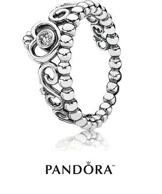 New Authentic Pandora Princess Tiara Ring 190880CZ  S925 ALE + Gift Pouch