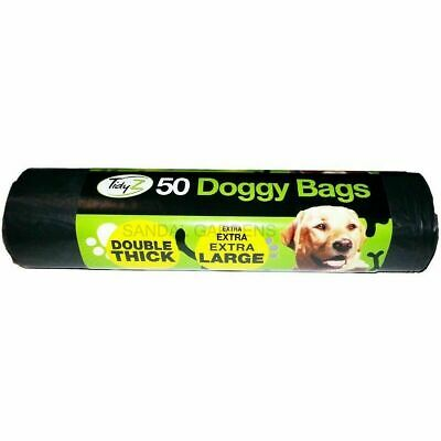 Doggy Poo Bags Dog Puppy Waste 50 Pack Xxl Tidyz Large Double Thick Strong Tie