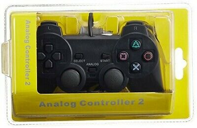 PS2 DUAL SHOCK Wired Controller Playstation PS2 Controller Pad Black
