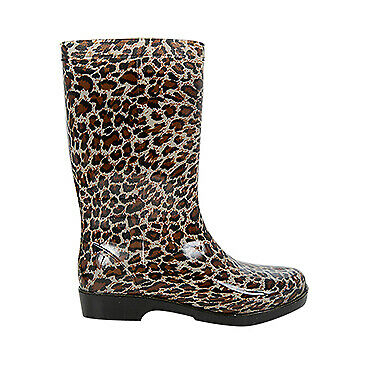 NEW Spendless Womens Spots Exist Winter Waterproof Pull On Style Rain Gum Boots