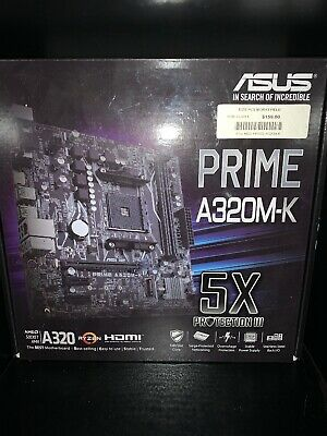 Asus Motherboard Prime A320M-K With No Cpu Bracket